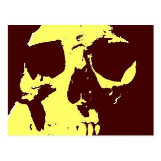 Cráneo del arte pop postal