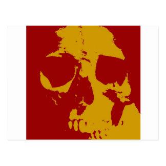 Cráneo del arte pop tarjetas postales