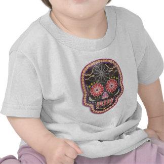 Cráneo del arte popular - día de los muertos camiseta