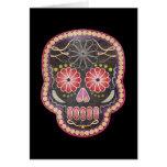 Cráneo del arte popular - día de los muertos tarjeta de felicitación