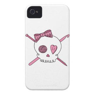 Cráneo del arte (rosa) iPhone 4 fundas