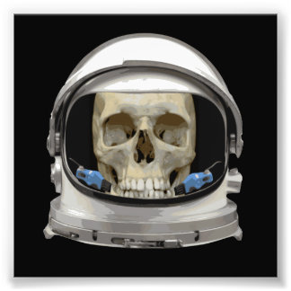 Cráneo del astronauta del casco de espacio fotografía