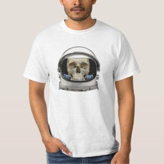 Cráneo del astronauta del casco de espacio remeras