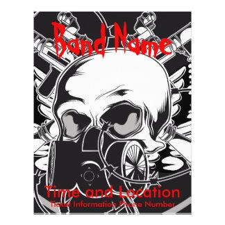"""Cráneo del aviador de la banda y careta antigás folleto 8.5"""" x 11"""""""