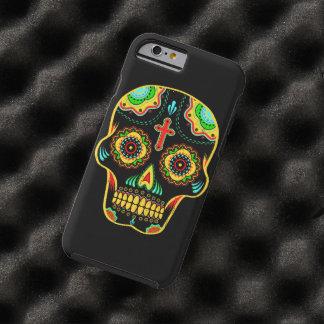 Cráneo del azúcar a todo color funda de iPhone 6 tough
