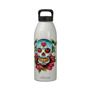 Cráneo del azúcar botella de agua