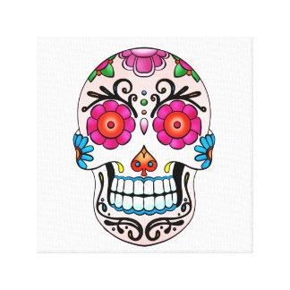 Cráneo del azúcar - arte del tatuaje impresiones de lienzo