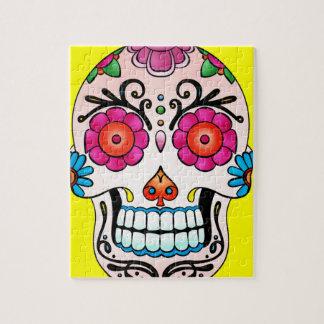 Cráneo del azúcar - arte del tatuaje puzzles