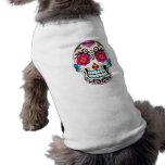 Cráneo del azúcar - arte del tatuaje camisetas de perro
