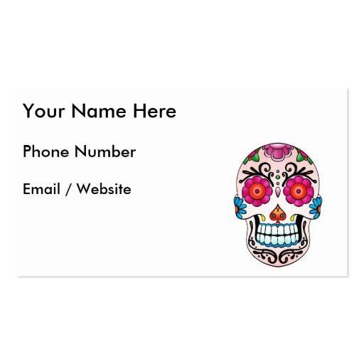 Cráneo del azúcar - arte del tatuaje tarjeta de visita