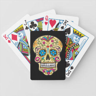 Cráneo del azúcar baraja de cartas