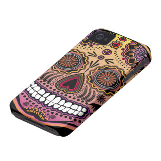 cráneo del azúcar Case-Mate iPhone 4 protectores