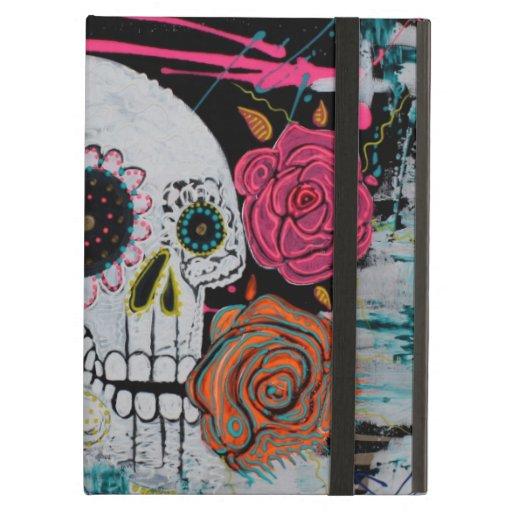 Cráneo del azúcar con el caso de Powis de los rosa