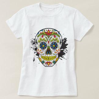 Cráneo del azúcar, cráneo del tatuaje, cráneo playera