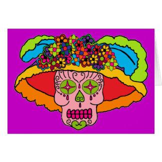 Cráneo del azúcar de Catrina Tarjeta De Felicitación