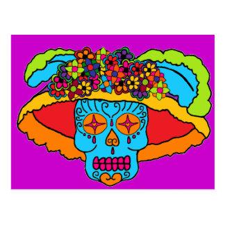 Cráneo del azúcar de Catrina Tarjetas Postales