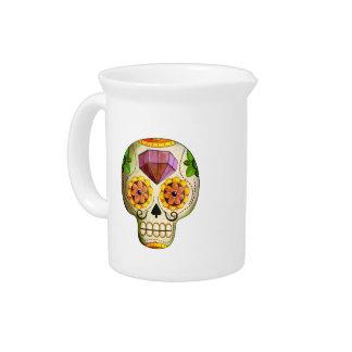 Cráneo del azúcar de Dia de Los Muertos mexican Jarra De Beber