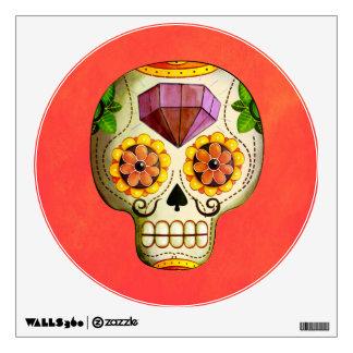 Cráneo del azúcar de Dia de Los Muertos mexican Vinilo