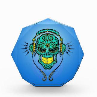 Cráneo del azúcar de DJ, azul