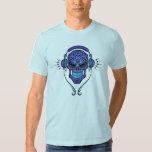 Cráneo del azúcar de DJ - profundamente azul Poleras