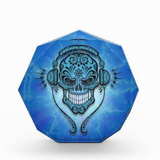 Cráneo del azúcar de DJ, relámpago azul