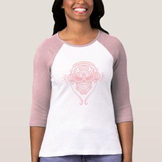 Cráneo del azúcar de DJ (rosa) Tshirt