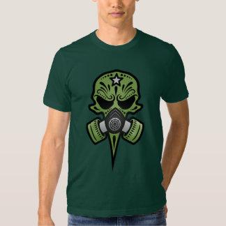 Cráneo del azúcar de la careta antigás (verde) poleras