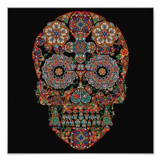 Cráneo del azúcar de la flor fotografías