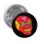 Cráneo del azúcar de Lucha Libre Pin Redondo 2,5 Cm