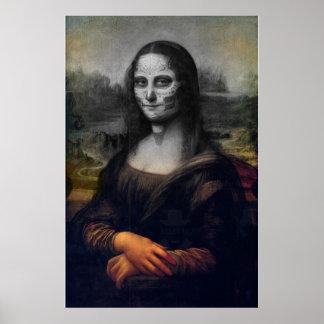 cráneo del azúcar de Mona Lisa Póster