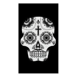 Cráneo del azúcar del bigote tarjetas de visita
