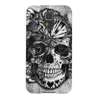 Cráneo del azúcar del caramelo del Grunge en Carcasa De Galaxy S5
