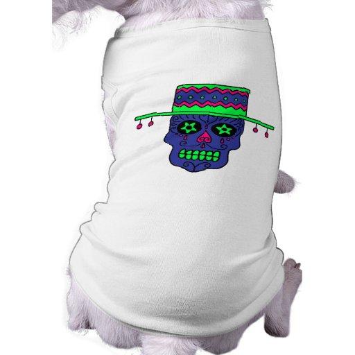 Cráneo del azúcar del gaucho camisetas de perro