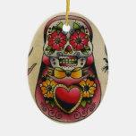 cráneo del azúcar del matryoshka ornamentos para reyes magos