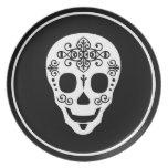 Cráneo del azúcar del señor por las pimientas de L Plato Para Fiesta