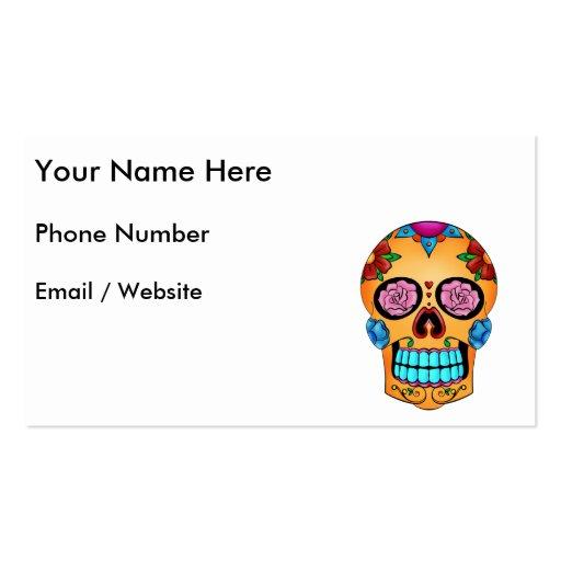 Cráneo del azúcar del tatuaje tarjeta de visita