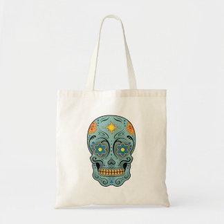 Cráneo del azúcar (día de los muertos) (azul) bolsa de mano