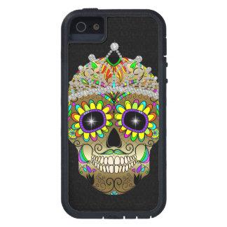 Cráneo del azúcar - día de los muertos - caso del  iPhone 5 Case-Mate funda