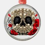 Cráneo del azúcar - diseño del tatuaje adorno de reyes