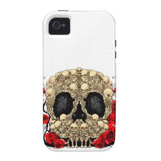 Cráneo del azúcar - diseño del tatuaje iPhone 4/4S funda