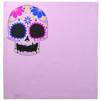 Cráneo del azúcar - diseño del tatuaje servilleta