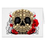 Cráneo del azúcar - diseño del tatuaje felicitaciones