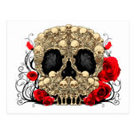 Cráneo del azúcar - diseño del tatuaje tarjeta postal