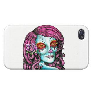 Cráneo del azúcar iPhone 4/4S fundas