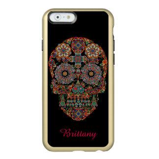 Cráneo del azúcar funda para iPhone 6 plus incipio feather shine