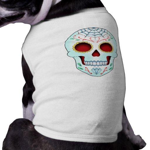 Cráneo del azúcar - mascota camisa de perrito