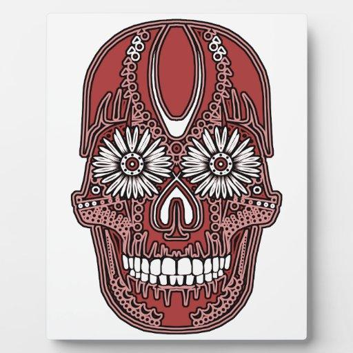 Cráneo del azúcar placas