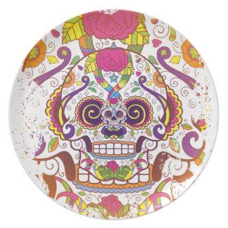 Cráneo del azúcar platos de comidas