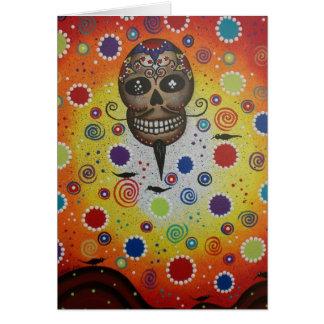Cráneo del azúcar por Lorri Everett Tarjeta De Felicitación