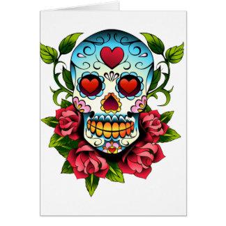 Cráneo del azúcar tarjeta de felicitación